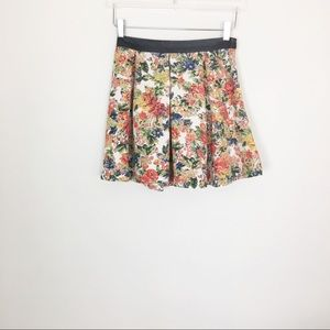 Mini floral colorful skater skirt ASTR